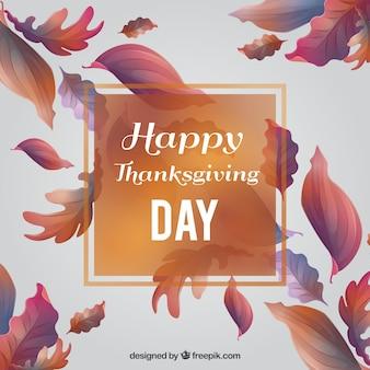 Thanksgiving carte de jour de feuilles avec des conceptions différentes