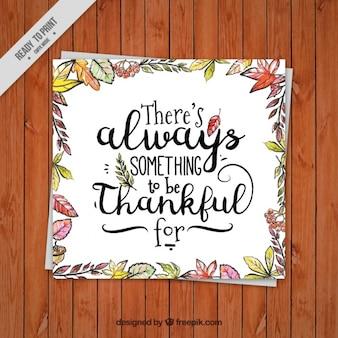 Thanksgiving cartes de voeux avec décoration florale