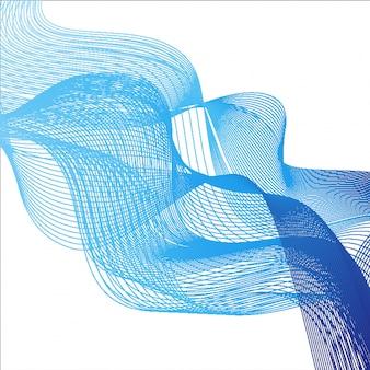 Thème d'arrière-plan avec des vagues bleues sur fond blanc