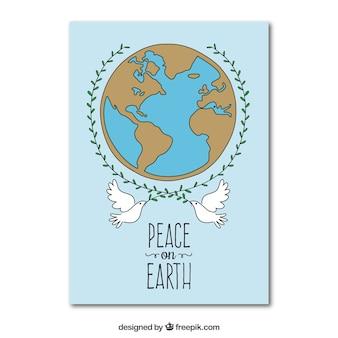 Tiré par la main la carte de la paix