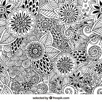 Tiré par la main motif floral
