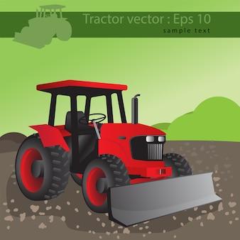 Tracteur agricole, transport pour la ferme