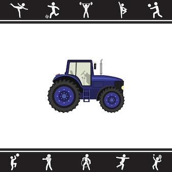 Tracteur. illustration vectorielle