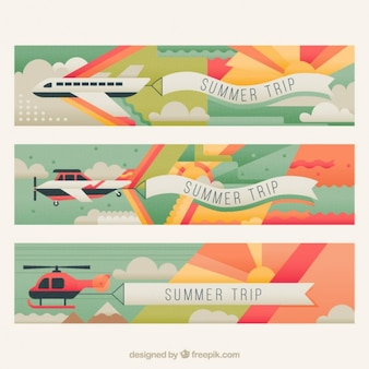 Transports abstract banners