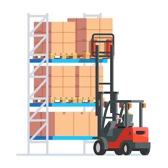 Travailleurs d'entrepôt et de livraison
