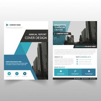 Triangle bleu brochure modèle