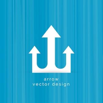 Trois flèches symbole vecteur de conception