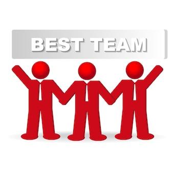 Trois hommes d'affaires dans le concept de la meilleure équipe