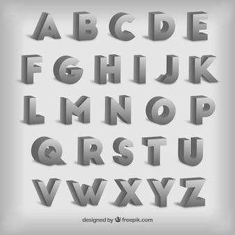 Typographie dans le style 3d