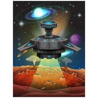 Ufo conception d'arrière-plan