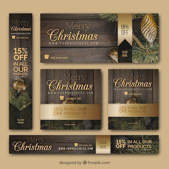 Une variété élégante de bannières de Noël
