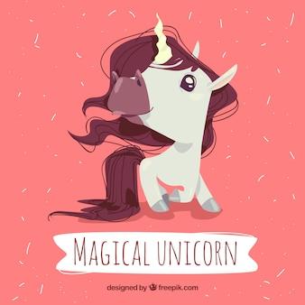 Unicorn magique avec style dessiné à la main
