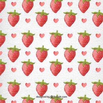 Valentin Aquarelle Strawberry Motif