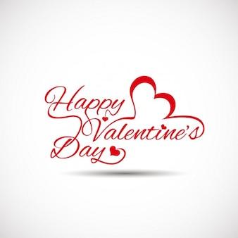 Valentines carte avec un fond blanc