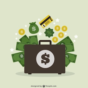 Valise avec de l'argent