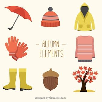 Variété d'accessoires d'automne