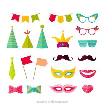 Variété d'accessoires de fête