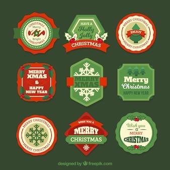 Variété d'autocollants de Noël vintage