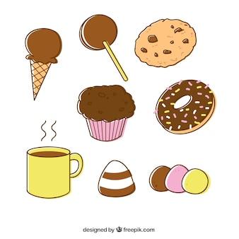 Variété de bonbons de chocolat
