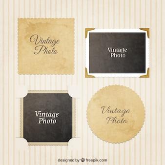 Variété de cadres photo vintage