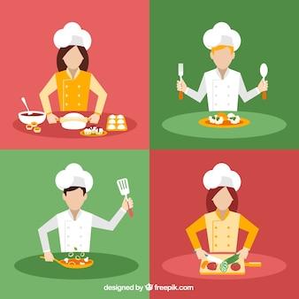 Variété de cuisiniers