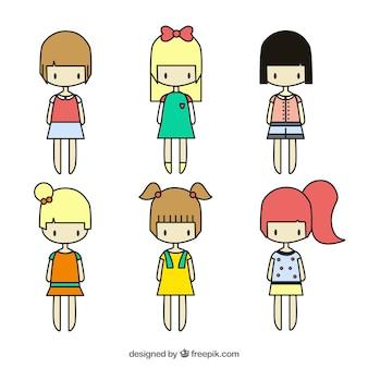 variété de jolies filles
