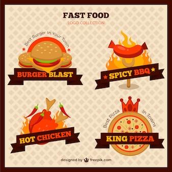 Variété de logotypes de restauration rapide