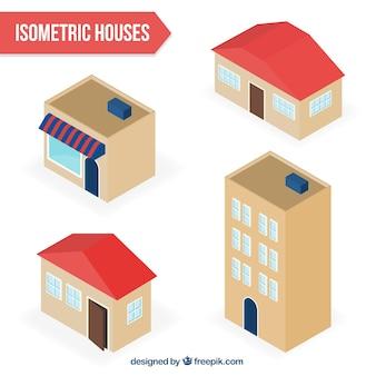 Variété de maisons isométriques