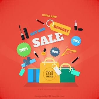 Variété des éléments de vente