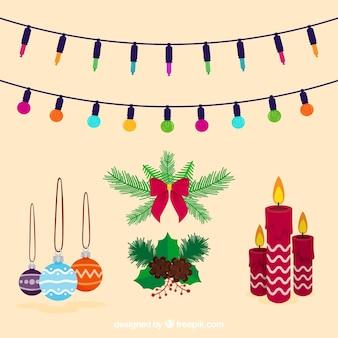 Variété originale d'ornements de Noël
