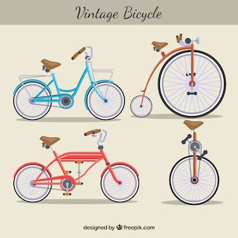 Variété vintage de vélos