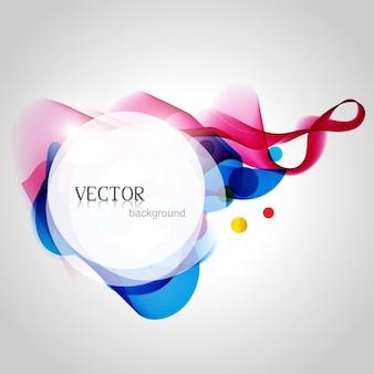 Vecteur belle conception de fond coloré