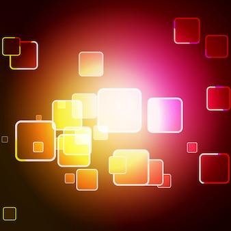 Vecteur coloré carré bokeh design art