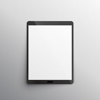 Vecteur de conception de maquette de tablette