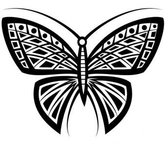 Vecteur de tatouage de papillon t l charger des vecteurs - Tribal papillon ...
