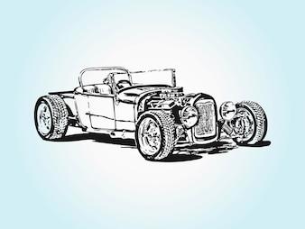 Vecteur de voiture de course vintage