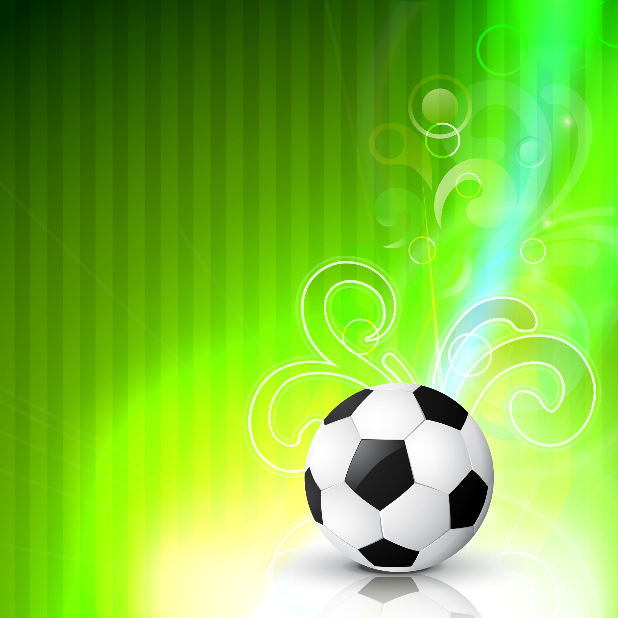 Vecteur football design art sur fond vert