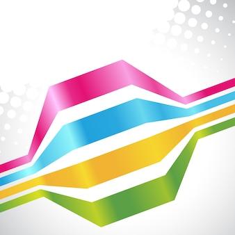 Vecteur lignes colorées sur fond blanc