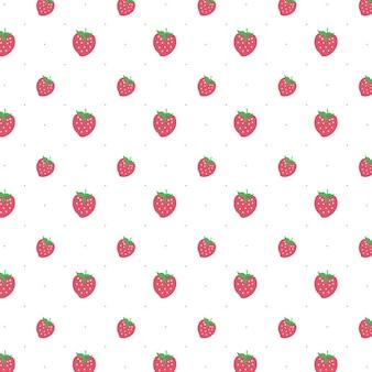 Vecteur motif fraise