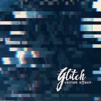 Vecteur numérique glitch fond abstrait
