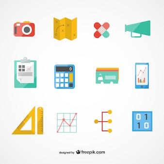 Vecteur plan d'affaires ensemble d'icônes