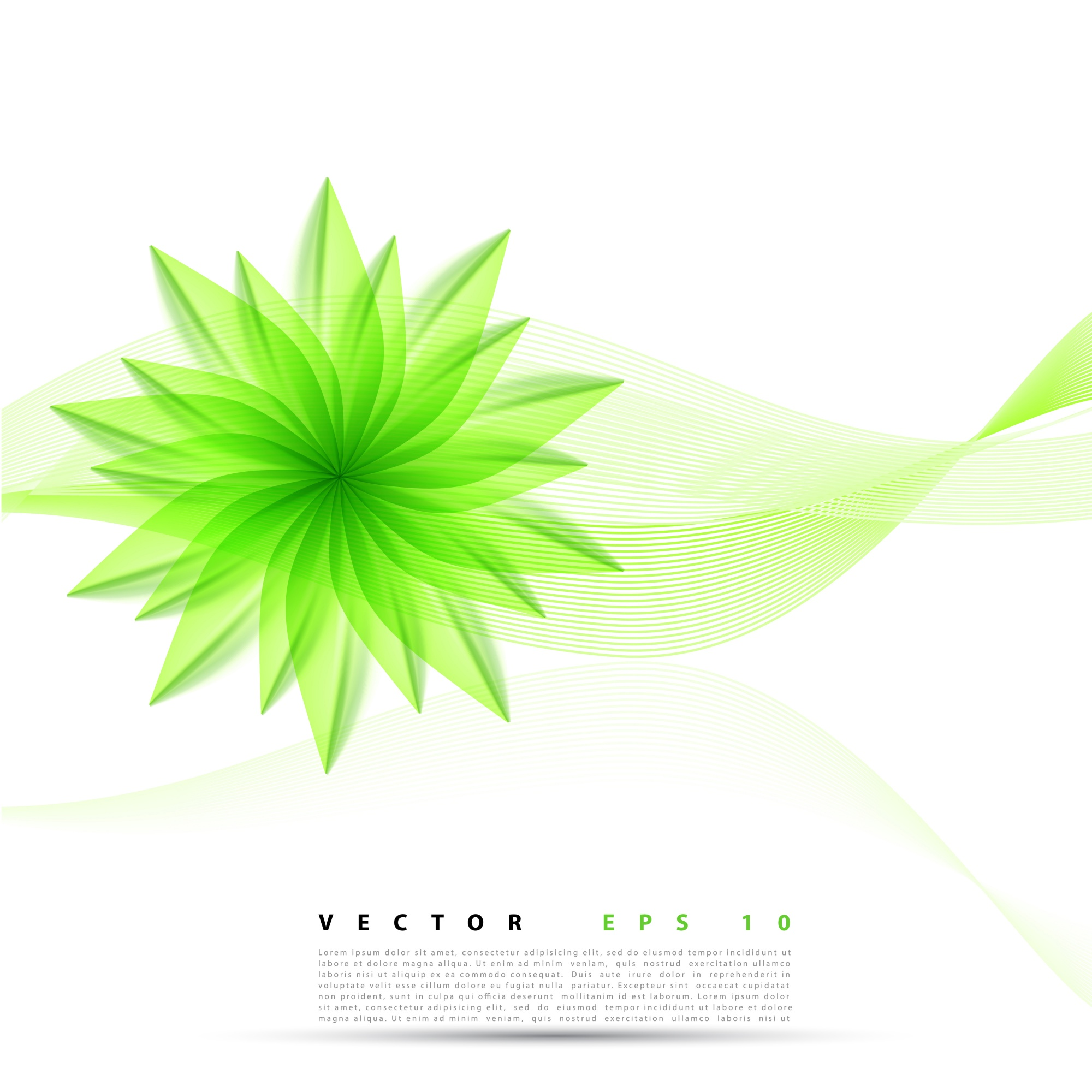 Vector abstract background flower.