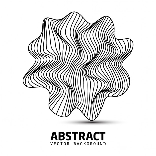 Vector abstract logotype noirs ondulés