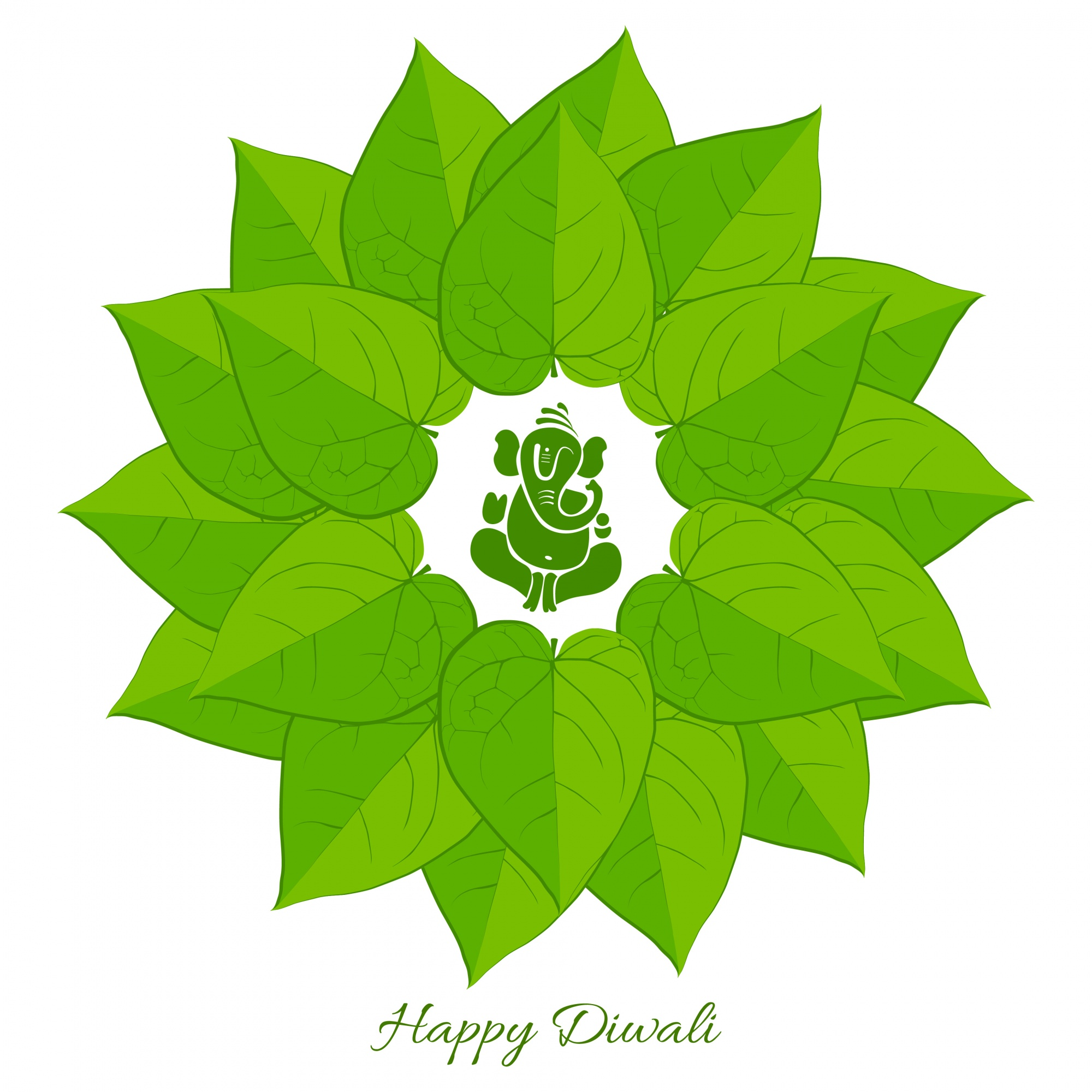 Vector betel leaf with lord ganesh background