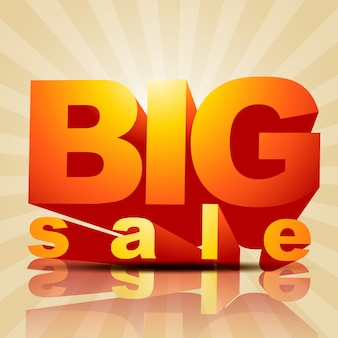 Vector big sale poster style background