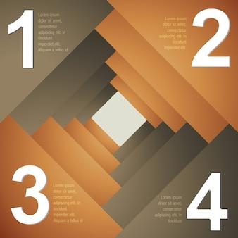 Vector design créatif modèle d'infographie