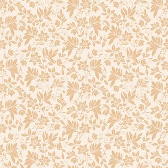 Vector flower seamless pattern background. Texture élégante pour les arrière-plans. Ornement floral à l'ancienne à la décoration classique, texture sans soudure pour papiers peints, textile, emballage.