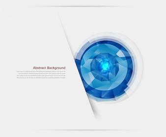 Vector gemme abstraite et glace bleue