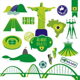 Vector illustration du Brésil