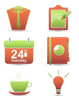 Vector set icons. entreprise de gestion du temps
